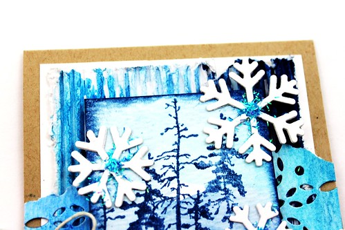 Meihsia Liu Simply Paper Crafts Mixed Media Card Winter Blues Simon Says Stamp Tim Holtz 4