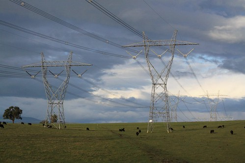 Transmission lines at Coldstream, Victoria