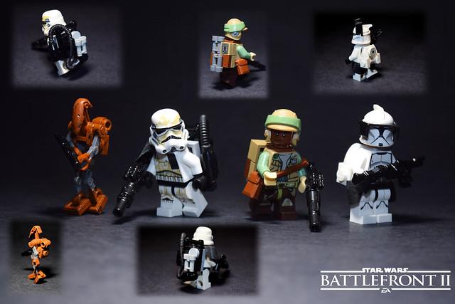 Lego SW:BFII- Custom Heavy Figures