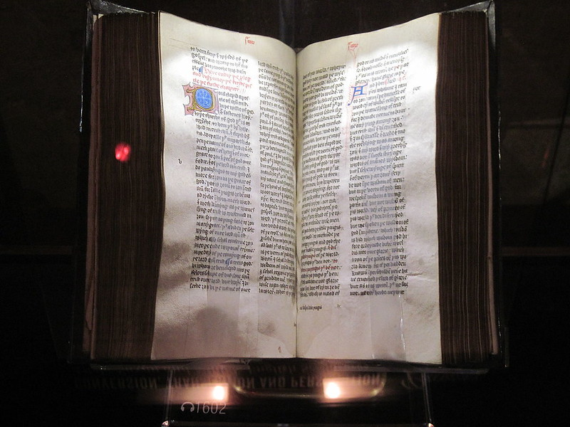 Copy of John Wycliffe`s New Testament in Middle English in the Green Collection, Oklahoma City