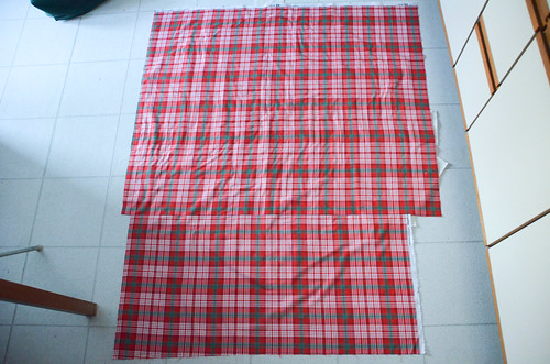 Quilt Sandwich - Ensure no wrinkles were basted into quilt backing.