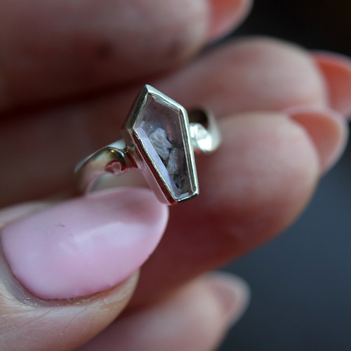 Pink reliquary ring