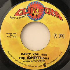 THE IMPRESSIONS:CHECK OUT YOUR MIND(LABEL SIDE-B)
