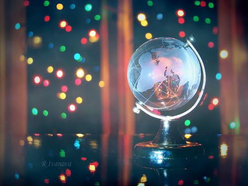 light lights macro colors color christmas holidays window winter bokeh rivanova sony риванова светлини зима прозорец