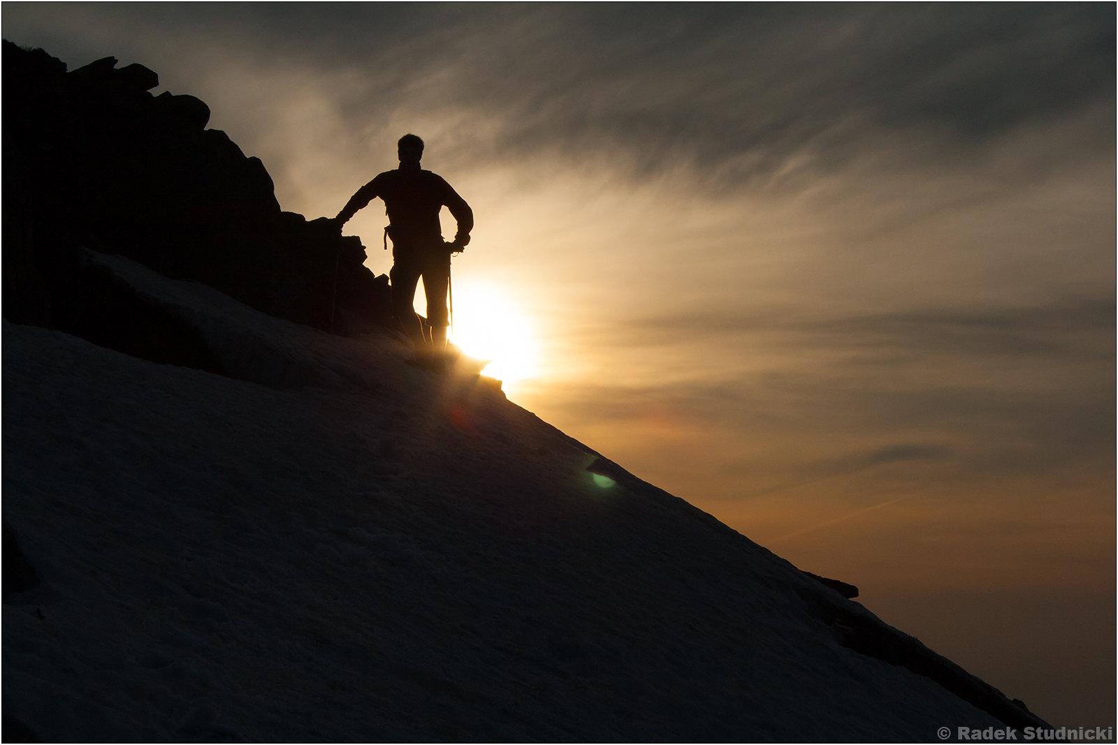 Babia Góra, zachód słońca