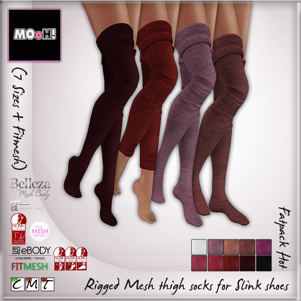 MOoH! Thigh high socks for slink feet hot