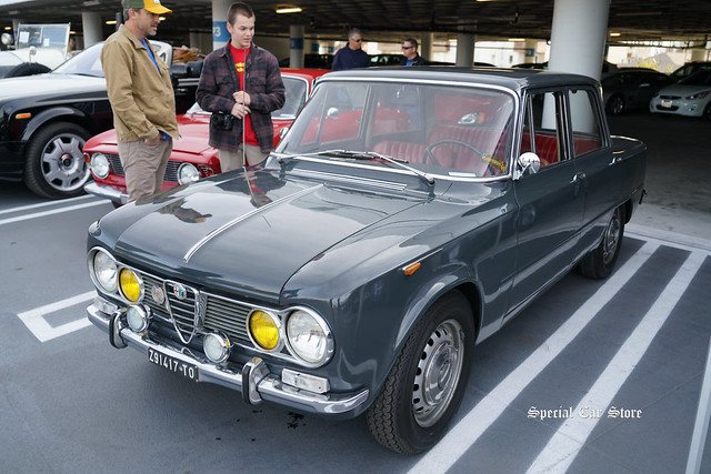 1965 Alfa Romeo Giulia TI at Petersen Automotive Museum Breakfast Club Cruise-In