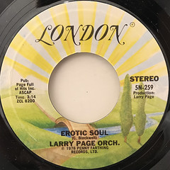 LARRY PAGE ORCH.:EROTIC SOUL(LABEL SIDE-A)