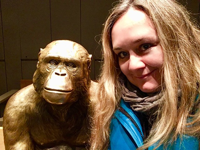 Me and my new friend at the Evolution Theatre