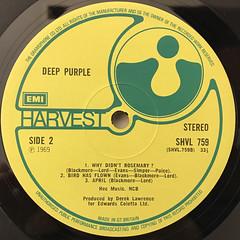 DEEP PURPLE:DEEP PURPLE(LABEL SIDE-B)