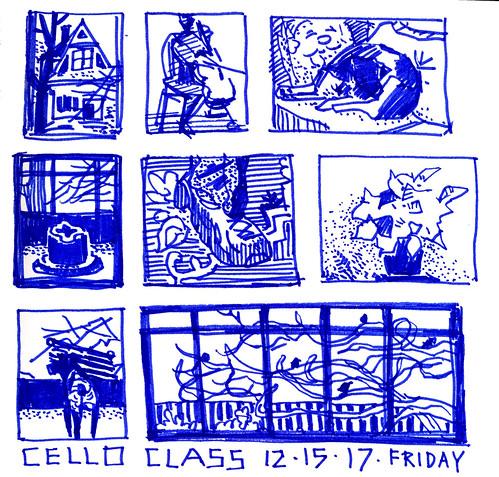 Sketchbook #110: Cello lesson.