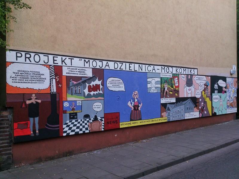 """Joanna Róg-Ociepka, młodzież Gimnazjum nr 34, """"Moja dzielnica, mój komiks"""", May 2017"""
