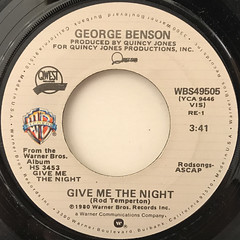 GEORGE BENSON:GIVE ME THE NIGHT(LABEL SIDE-A)