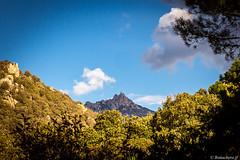 l'omu di Cagna vu depuis le ravin du Spartonu