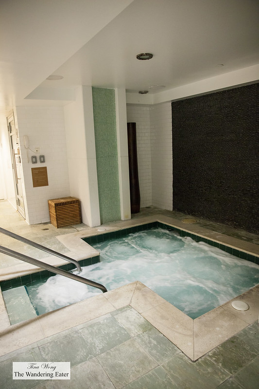 Exhale Spa's hot tub