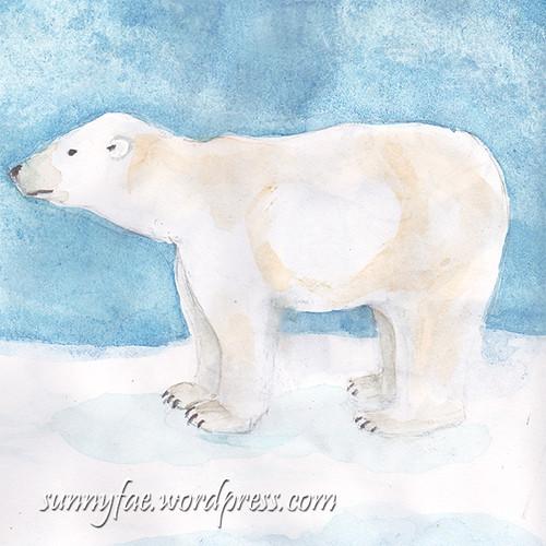 polar bear watercolour sketch 2