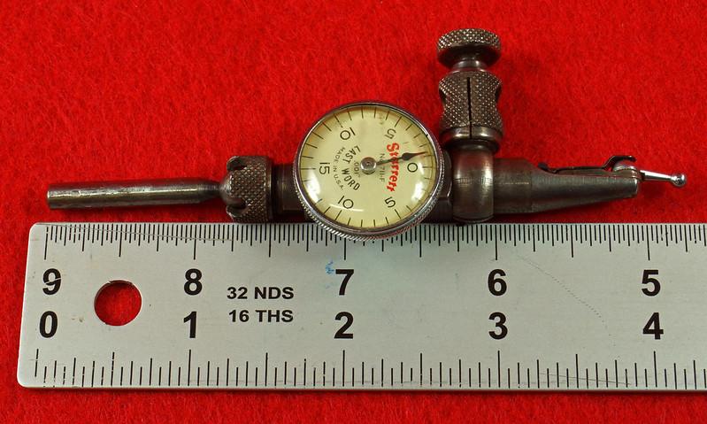 RD19916 Vintage Starrett 711-F Last Word Dial Indicator In Original Case with Label DSC03173