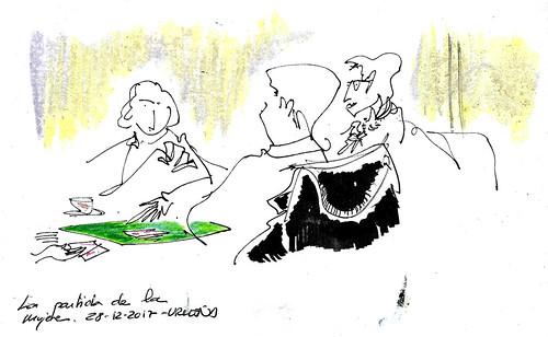 Jugando las mujeres a las cartas en Urueña