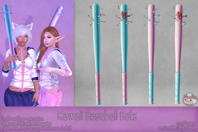 c( TC ) Kawaii Baseball Bats poster