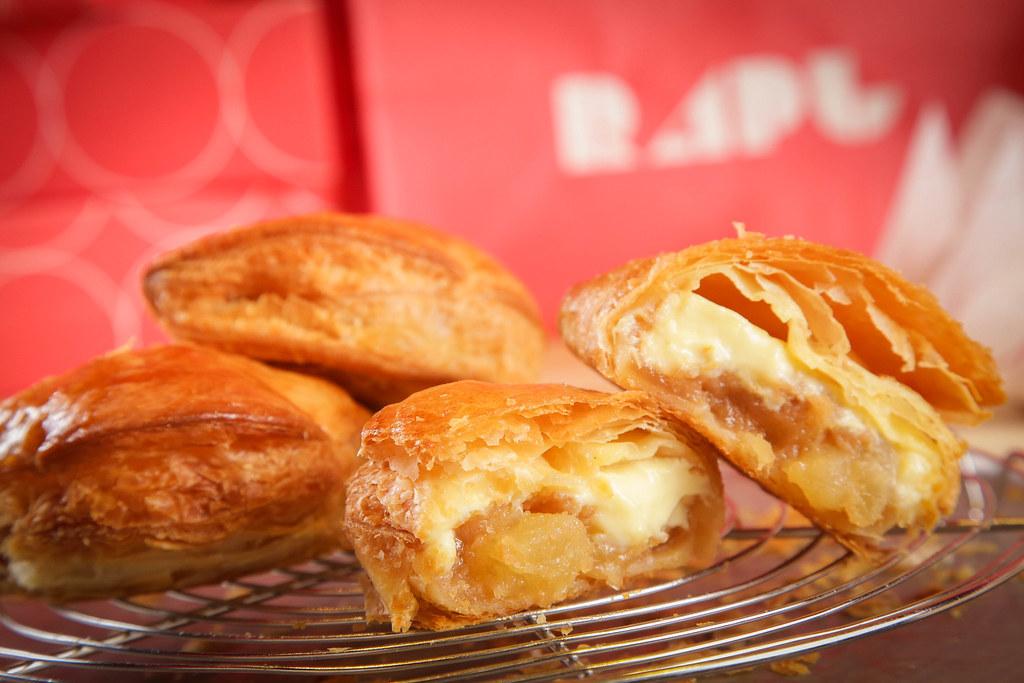 RAPL澎派令果延續BAKE Inc.一貫的美味三原則「講究原料、費時費力、新鮮美味」,以「一品牌一產品」用心製作蘋果派(圖片提供-RAPL)