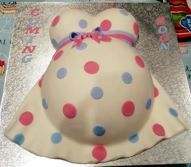 Baby Bump Chocolate Cake by Carmine Cakes