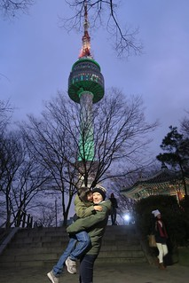 Lisa and Alan at North Seoul Tower