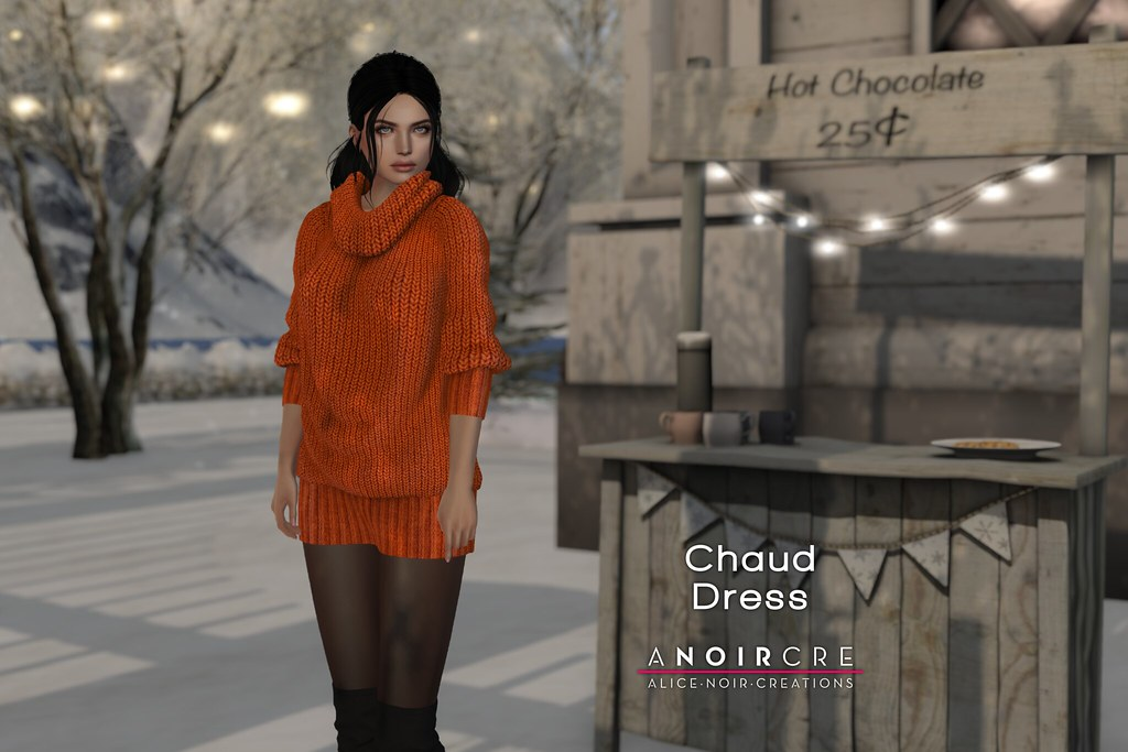 ANOIRCRE - Chaud Dress - TeleportHub.com Live!