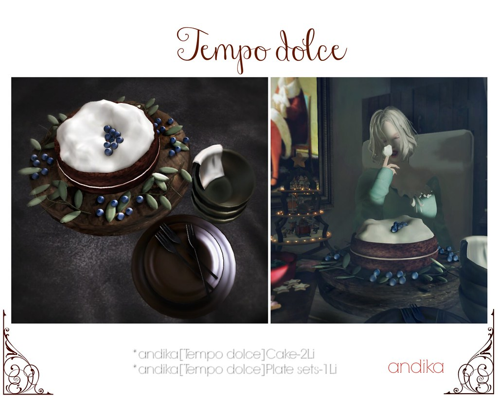 andika [Tempo dolce]cake with plate sets-AD