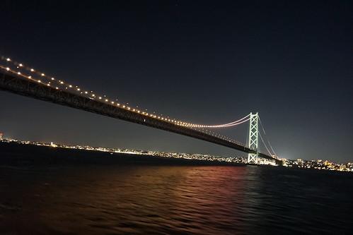明石海峡大橋をしたから見れるのはアツイ