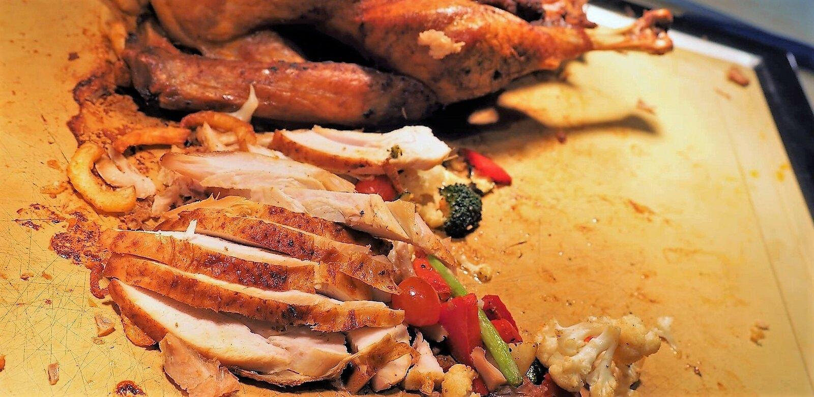 Slices of turkey breast at Feast @ Sheraton Petaling Jaya.
