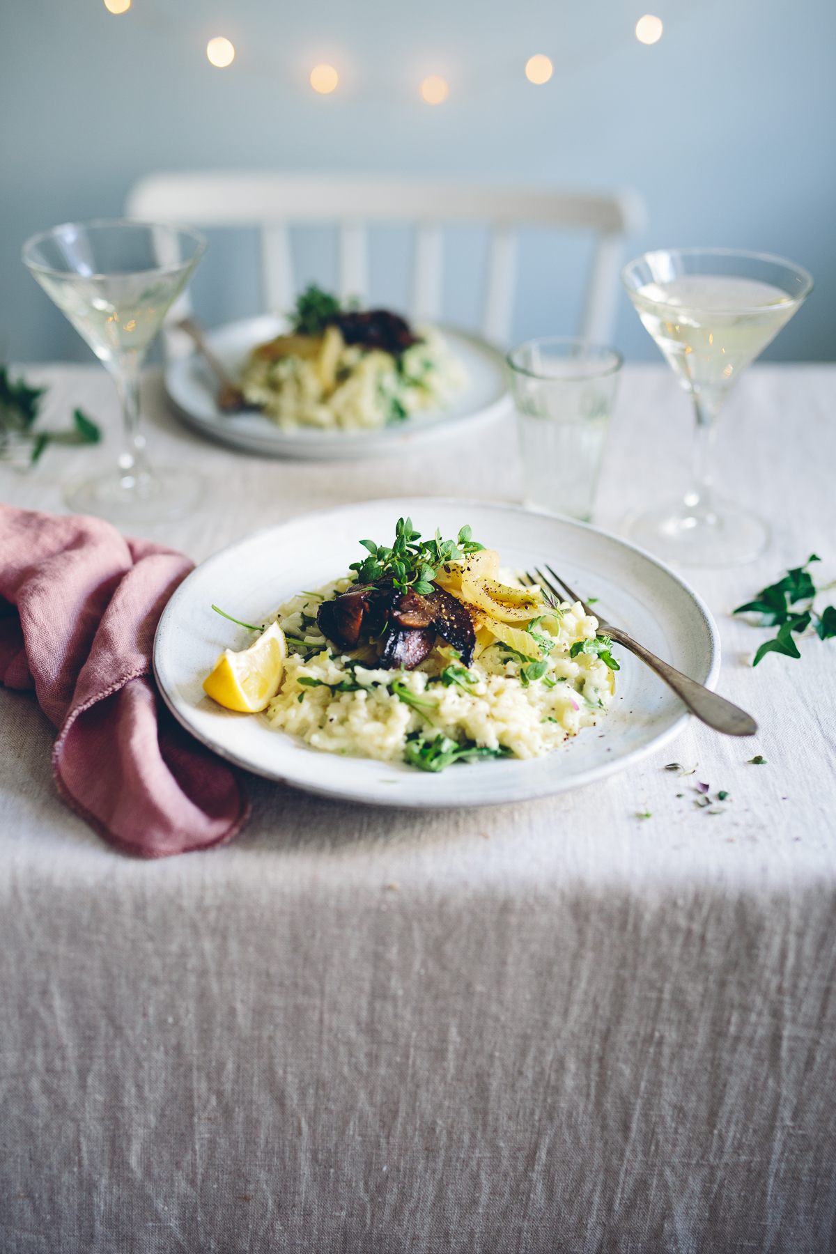 New Year's Risotto with caramelized fennel & miso mushrooms | Cashew Kitchen