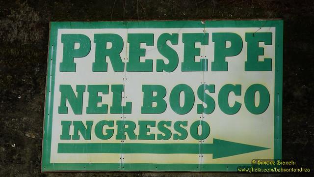 Il presepe nel bosco di Viganego, frazione di Bargagli (GE)