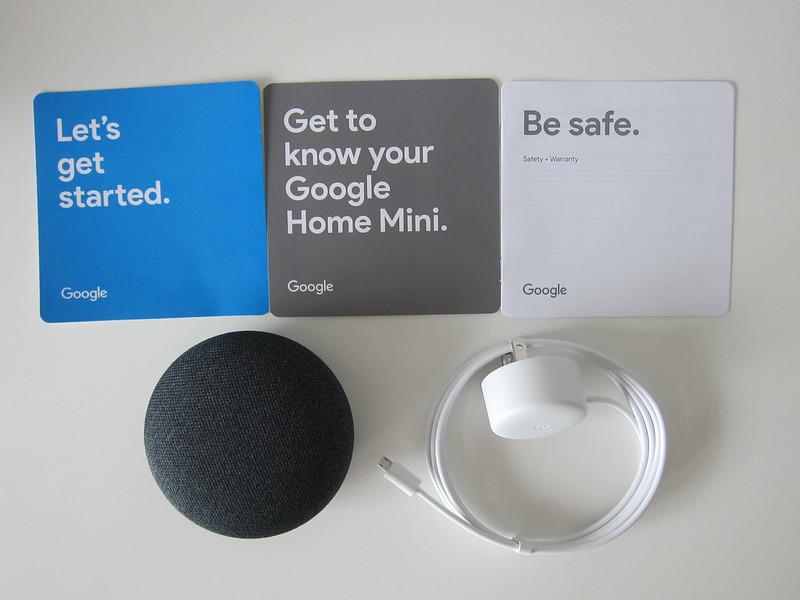 Google Home Mini - Box Contents