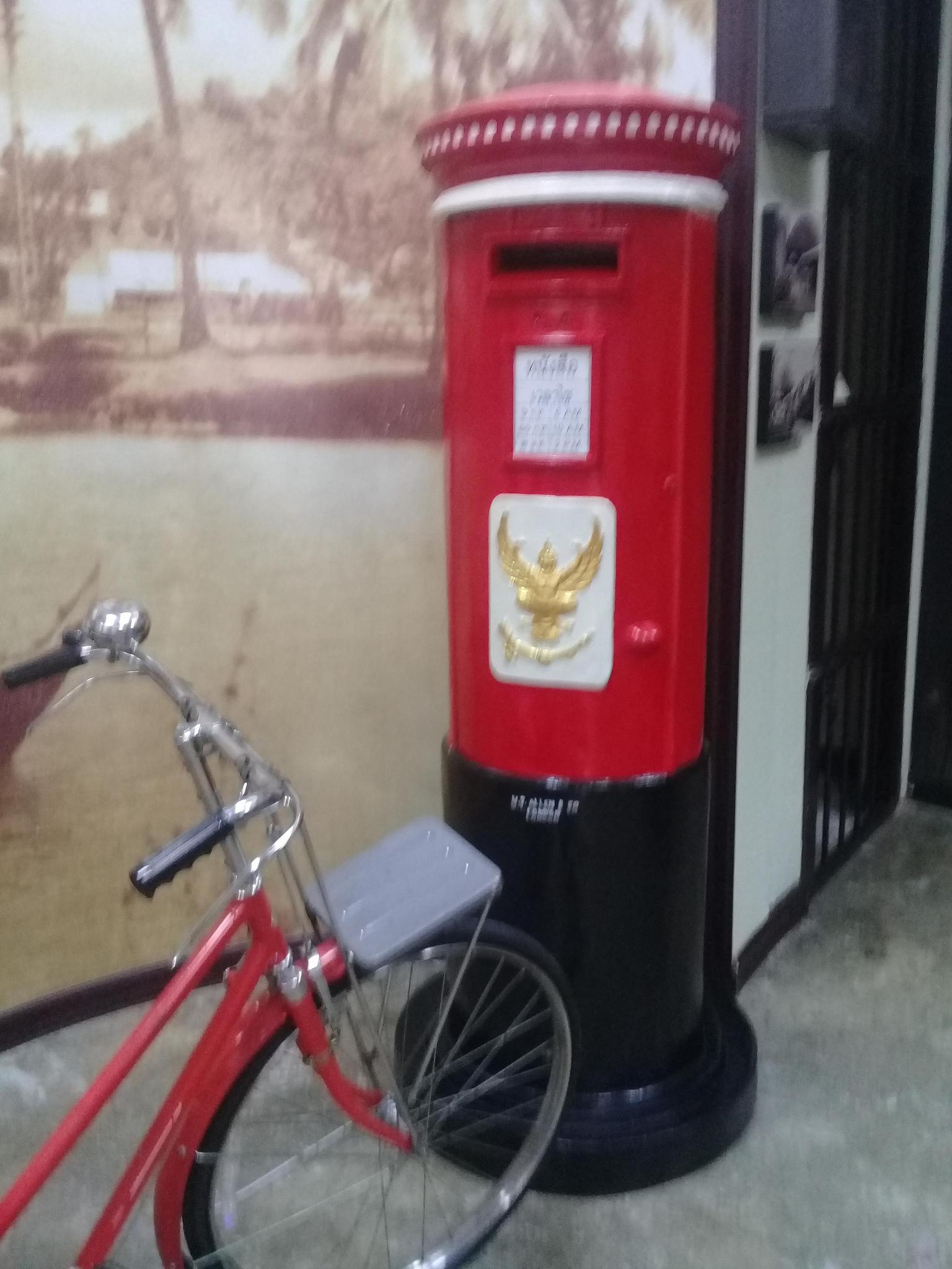 Thai pillar box at the Phuket Philatelic Museum. Photo taken on October 27, 2017.