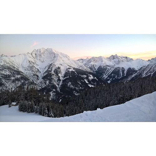 Today I had nice xcski trip but still prefer to share pictures from ski tour some days ago  After sunset winter cold view How beautiful you are, nature!! No filter  After work ski tour from Elbigenalp > Bernhardseckhuette  I just made it above tree level