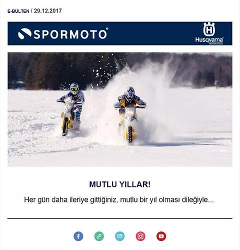KTM Motsiklet Yeni Yıl Maili