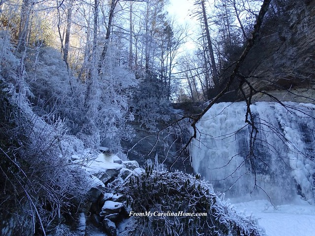 Looking Glass Falls Winter 2018 Freeze at FromMyCarolinaHome.com