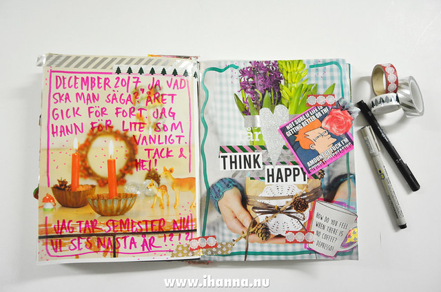 Art Journal Peek: December thoughts 2017