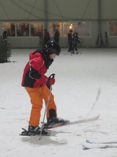 Wer runter will, muss erstmal hoch ... mit Skiern