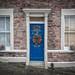 Wreath and Door, Bristol, UK