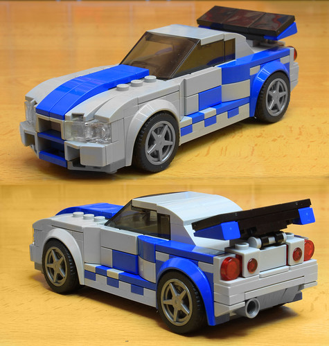 Lego Nissan Skyline from fast and Furious 2