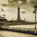 Blackpool Tower From the North Pier (Aged)