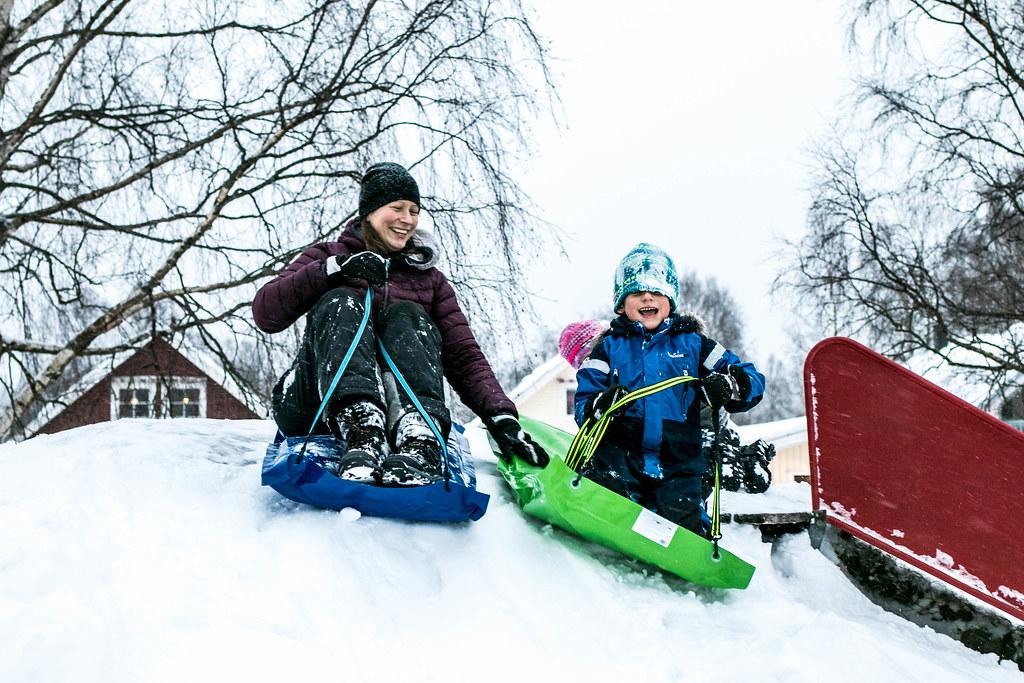 180105 - Snöskoj med Hellmans