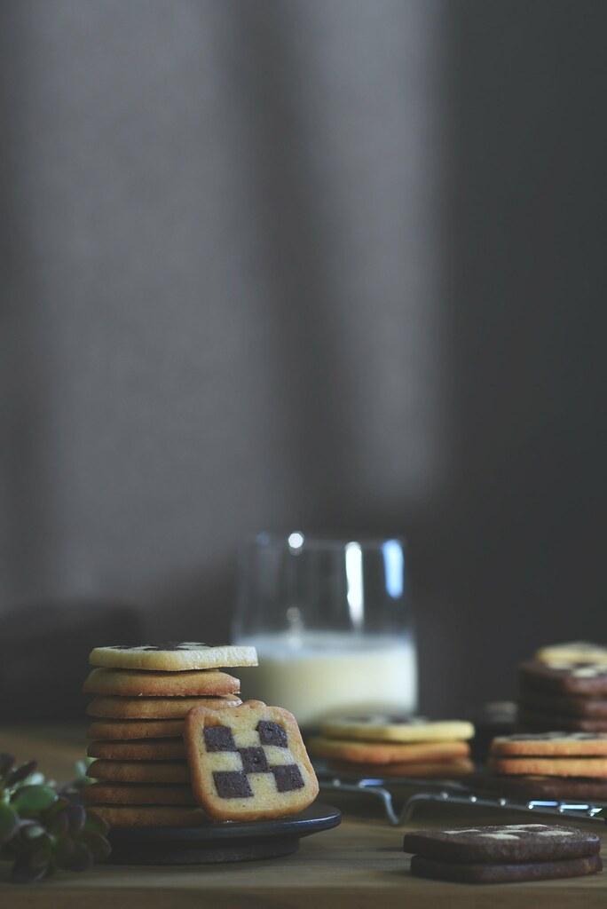 checkerboard pâte sablée