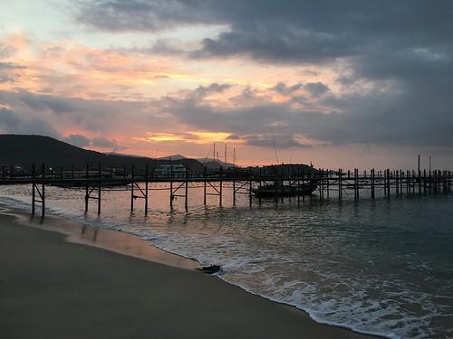 今日のサムイ島 12月28日 夕焼け見れました