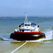Hovercraft arriving at Southsea from the Isle of Wight, 4th August 1991