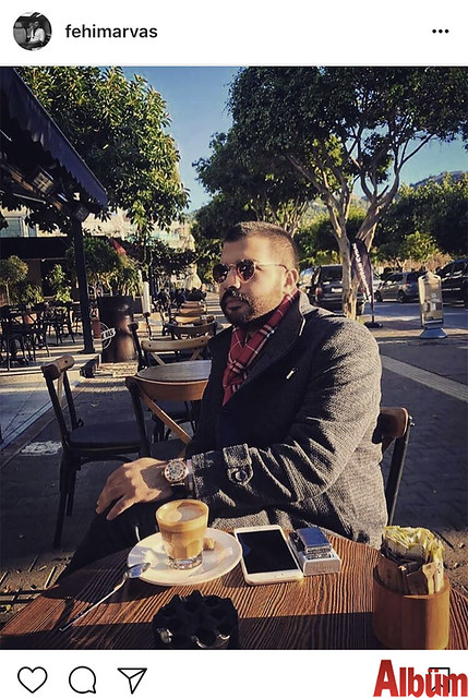 Fehim Arvas, Damlataş Promilli Ayaküstü Kahve'de güneşli havanın tadını çıkardı.