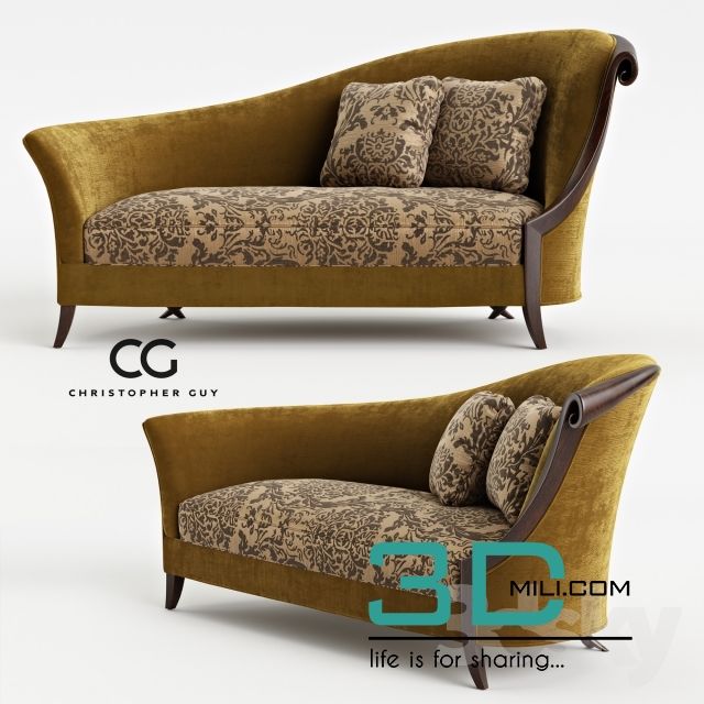 Christopher Guy Sofa   3D Mili   Download 3D Model   Free 3D Models   3D  Model Download