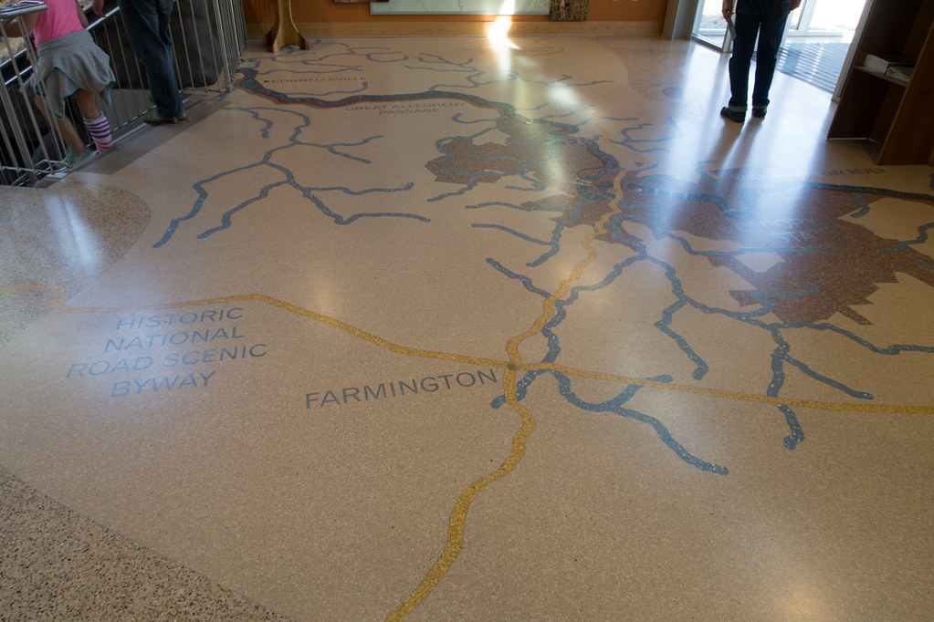 Floors of Ohipyle Visitor Center