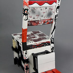 AIGA Red Rocks Student Group; Red, White, & Black; Item 147 - in SITu: Art Chair Auction